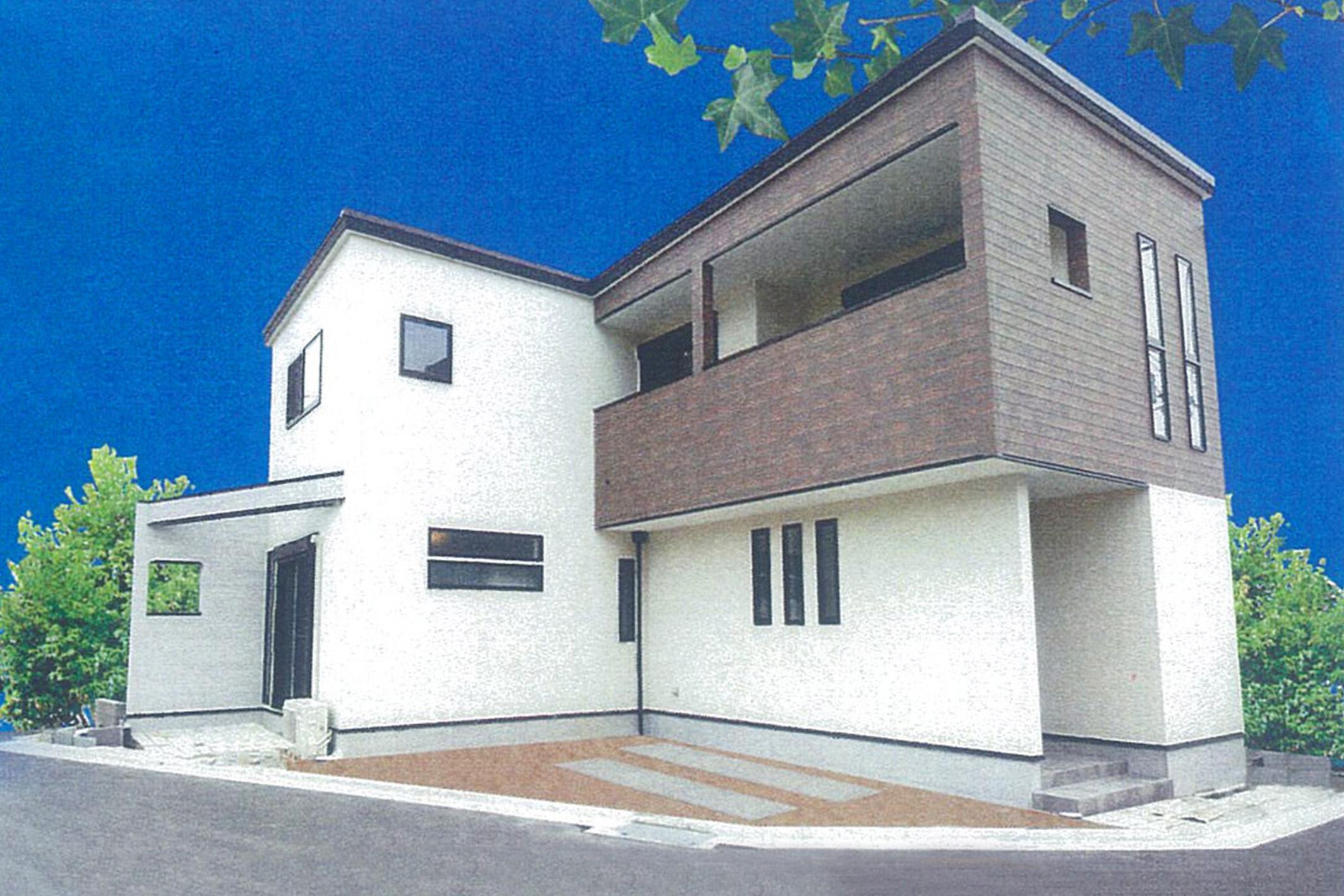 現地モデルハウス外観写真